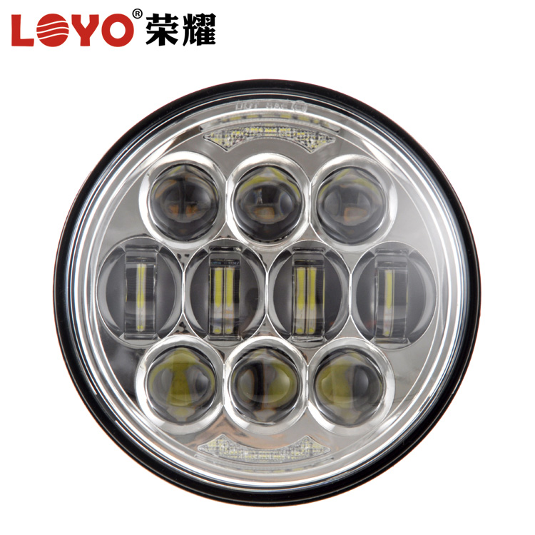 "Unique! Newest 80W 5.75"" high low beam led light 5 3/4 inch 5.75 inch round motorcycle led headlight for Harley Davidson"