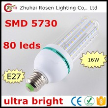 energy saver 4U E27 SMD 5730 energy-saving bulb light 16w 80 leds led energy saving lamp