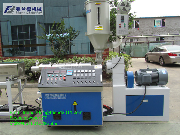 PU TPU pipe tube plastic extruder machine