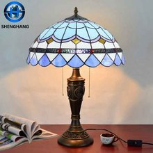 Morden style tiffany table lamp 2017 new year decoration 110v 220v led night light and electric original tiffany lamps