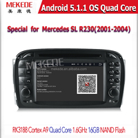 Android 5.1 Car DVD Player GPS Navigation for Mercedes SL R230 with Radio Bluetooth CD MP3 USB SD Auto Audio Video Stereo