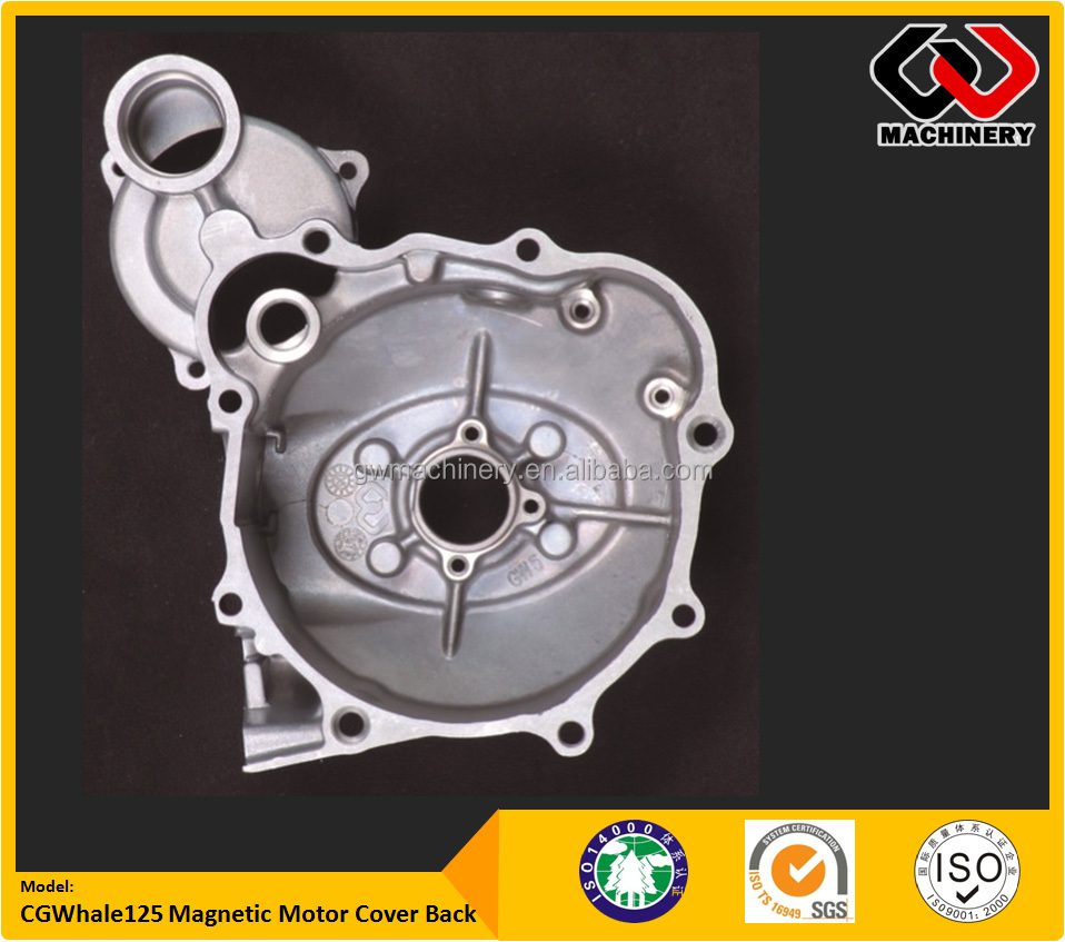 Customized Aluminum Die Cast Motorcyle Engine parts with TS-16949 Hi Precision CNC Machining CG125 Magnetic Motor Cover