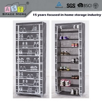 China best choice best selling bilayer metal folding shoe rack