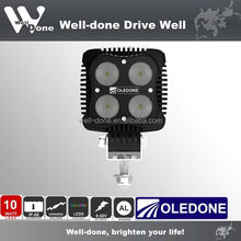Oledone 9-50V 40W Square led work light For Agriculture machines, Tractor with Adjustable Bottom Bracket