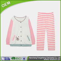 coral fleece and cotton adults winter pajamas
