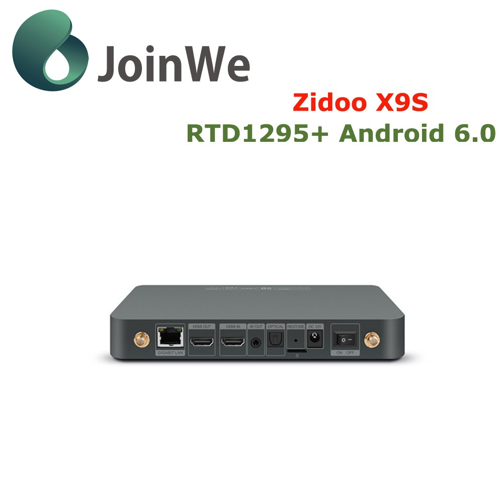 Joinwe Presale Zidoo X9s Media Player Android 6.0 + Openwrt(nas) Realtek Rtd1295 2g/16g 1000m Android Tv Box