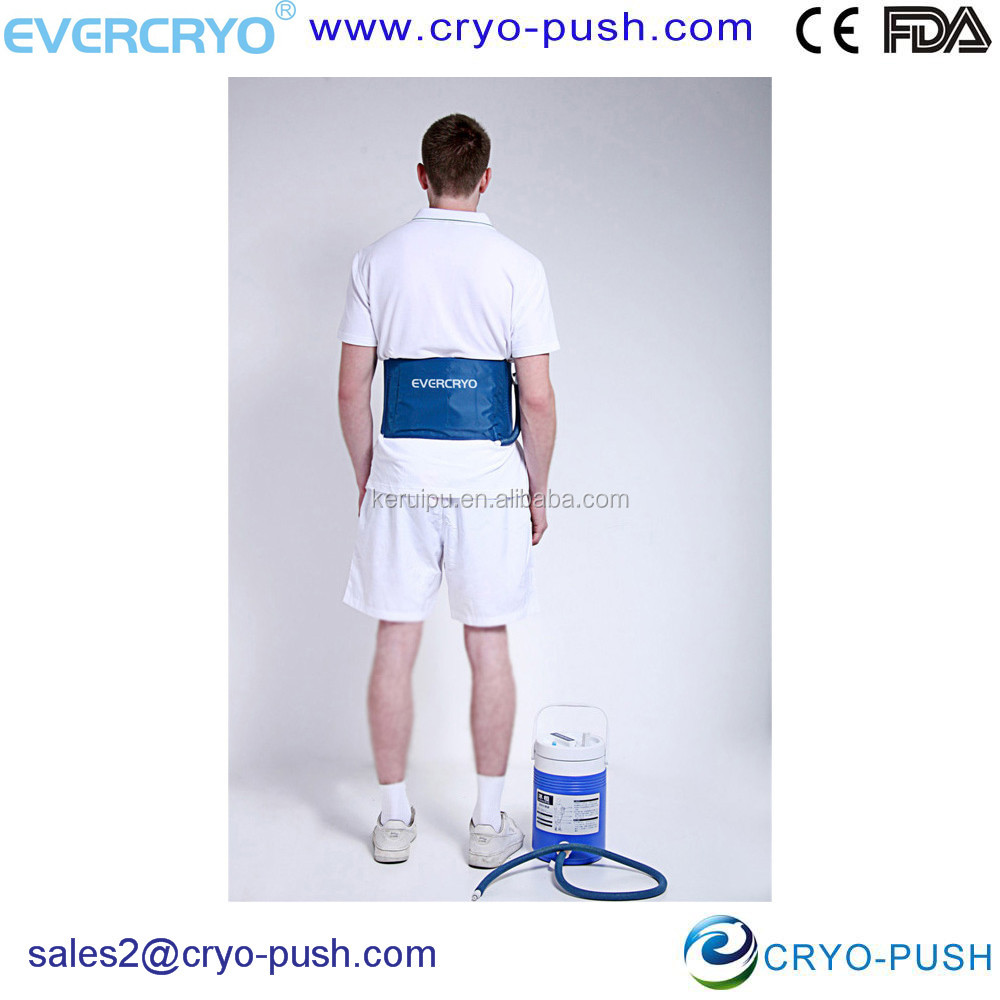 Evercryo Cold and Compression Therapy Unit with Fixing Strap for Reduce Pain of Back Hip Rib after Surgery E2