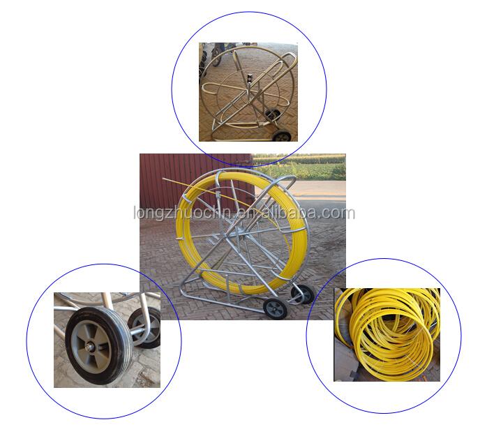 Fiberglass conduit rodder power duct rod