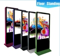 Showroom marketing 42 inch touch screen kiosk, digital signage tv player with free software