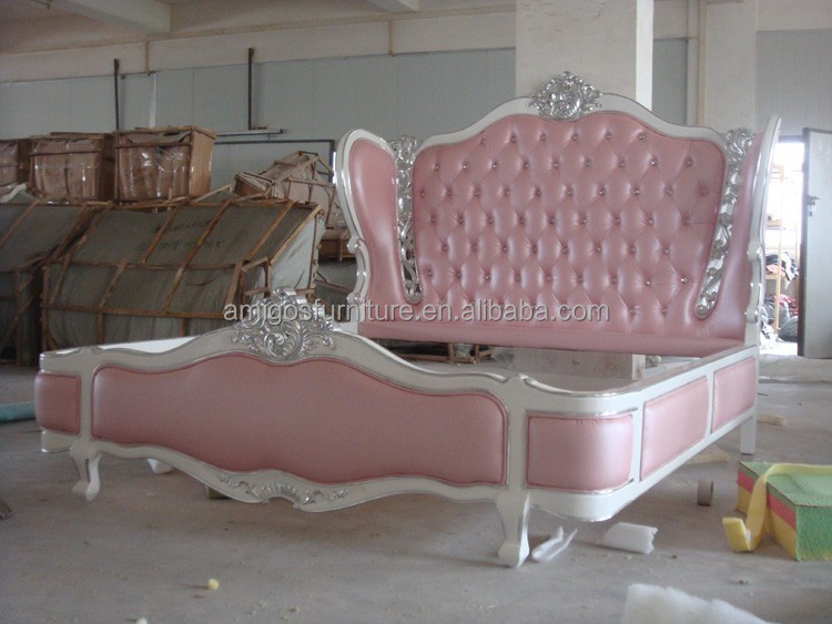 Alibaba luxurious queen size princess bed for modern bedroom