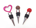 wholesale top quality silcone wine stopper with rhinestone