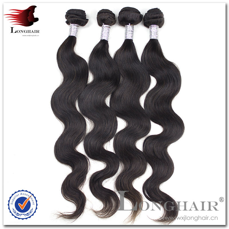 Natural color body wave 8-30 inch human hair extensions