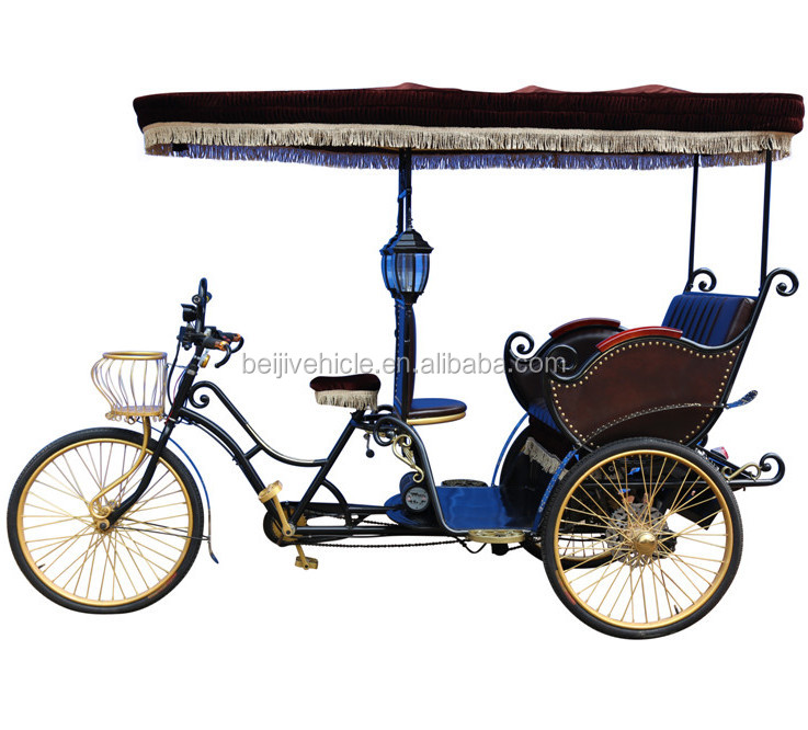 Ancient ways sightseeing wedding electric passenger 3 wheel electric bicycle taxi