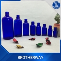 All dimentions cobalt blue glass essential oil bottle cosmetic glass bottle