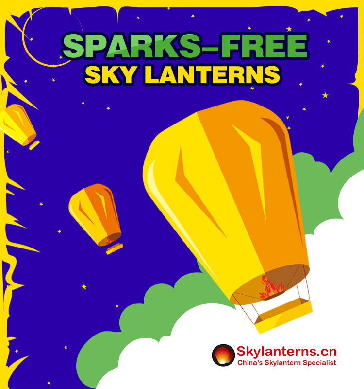 CE passed sparks-free 100% biodegradable and safe eco wishing sky lantern