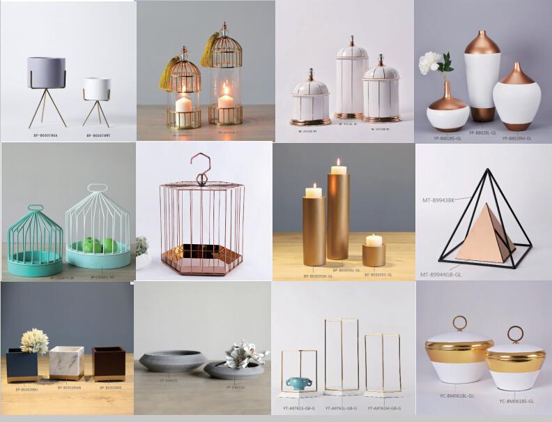 Custom dubai vase luxury home decor accessories for boutique china on
