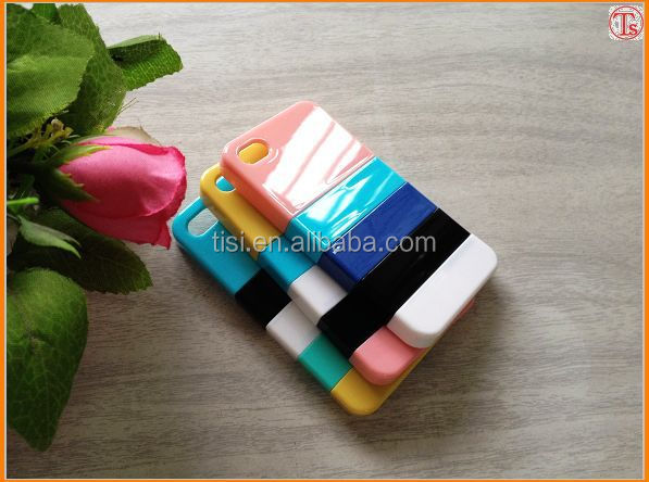 1USD Clear the stock Classic Rainbow strip phone case for Iphone 4/4s ,wholesale cell phone case with cheapest price