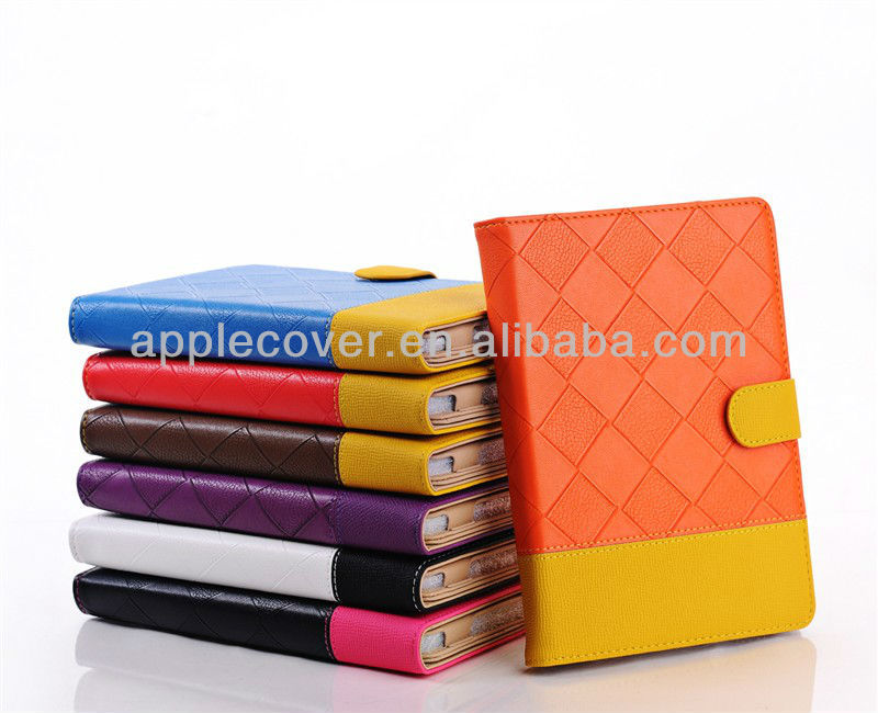 Double Color Grid Pattern case for ipad mini tablet