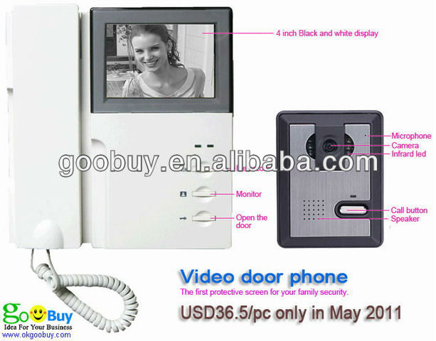 cheapest 3.5 inch 4 wire B/W commax video door phone