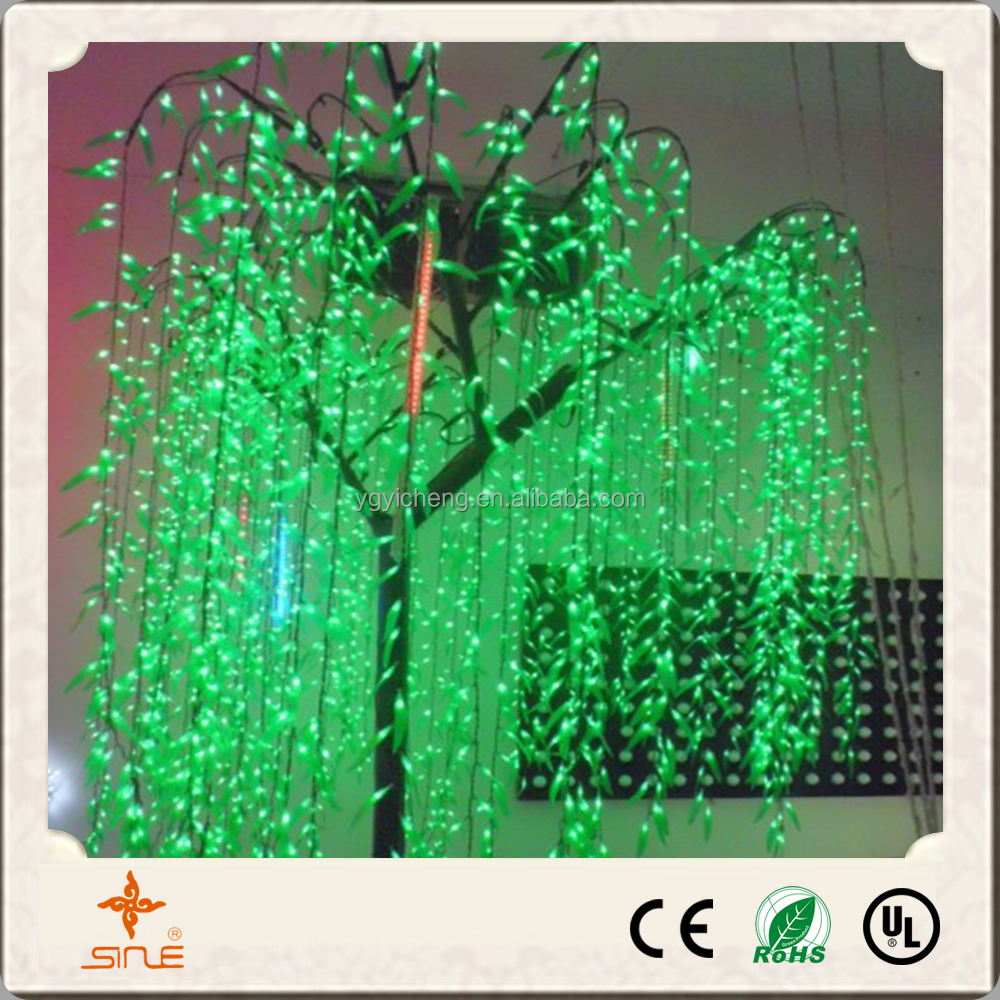 2016 hot sale garden outdoor decorative led williow tree light for christmas lighting
