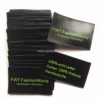 clothing custom printing silk black label with text information customized