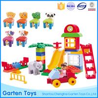 Eco-friendly ABS colorful educational children plastic building blocks toys