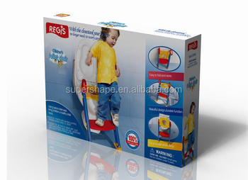 Folding plastic ladder potty foldable potty with step