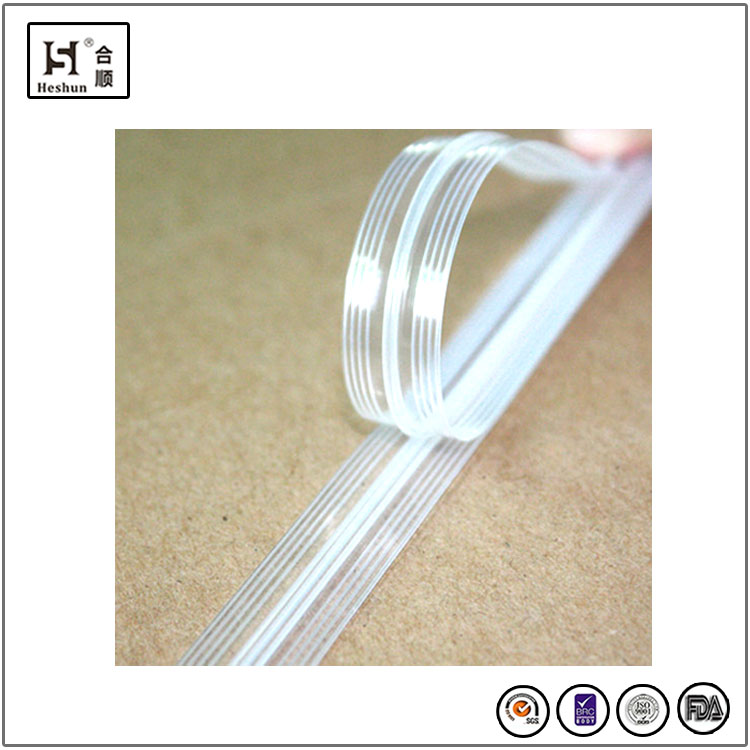 China High Quality Resealable PE/PP Plastic Single Line Ziplock Bag Zipper