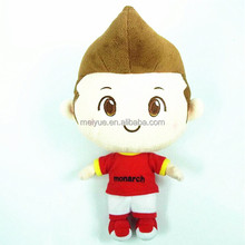 30CM Standing High Quality Wearing Red T-shirt Stuffed Plush Human Doll Toys for Kids