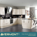 2018 Vermont Hot Popular Beige Glossy Color Import Kitchen Cabinet With Island Design