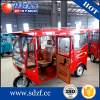 China supplier 3 wheel with canopy gas scooter motor tricycle