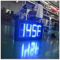 p10 indoor full color computer led temperature display led time and temperature display