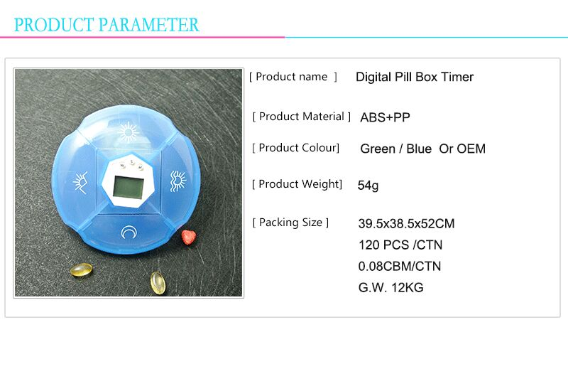 Digital pill box health care pill box timer with alarm timer