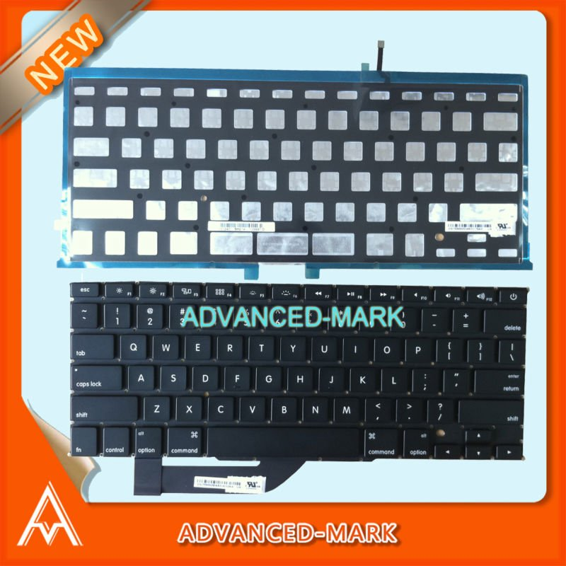 "New US Layout Keyboard with backlight For Macbook pro 15"" Retina A1398 2012 MC975LL/A MC976LL/A Laptop"