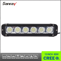 Single Row straight housing 12v 60w Led Light Bar 4WD