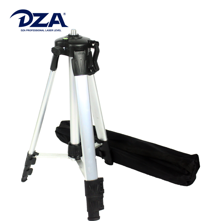 High Standard Silver Aluminium Tripod With Bubble Level For Laser Level Meter
