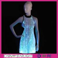 LED dress optic fiber luminous color changed chinese dress pattern