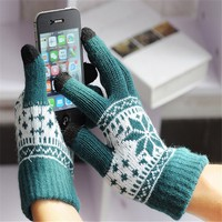 Yhao Unisex Smart Touch Winter Warm Texting Gloves Full Hand Touch Screen Gloves