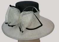 wholesale flower design ladies sinamay elegant church hats for ladies