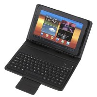 Silicon Wireless Bluetooth Keyboard + Leather case for Samsung Galaxy Tab p6800