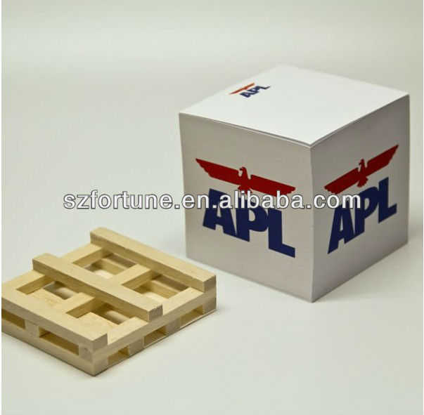 memo cube with wooden pallets,memo block,sticky cube
