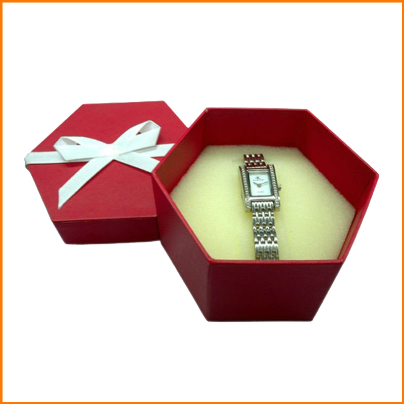 Polygon paper gift wrap box for watch