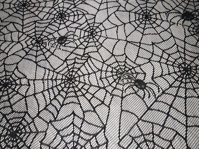 Halloween Tablecloth Party Decor Spooky Meals Black Spider Web Lace Table Cover 60x84inch