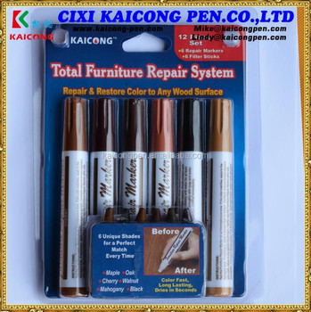 KAICONG furniture marker 12PCS WOOD Furniture Touch-up Marker and Repared GroutArt marker