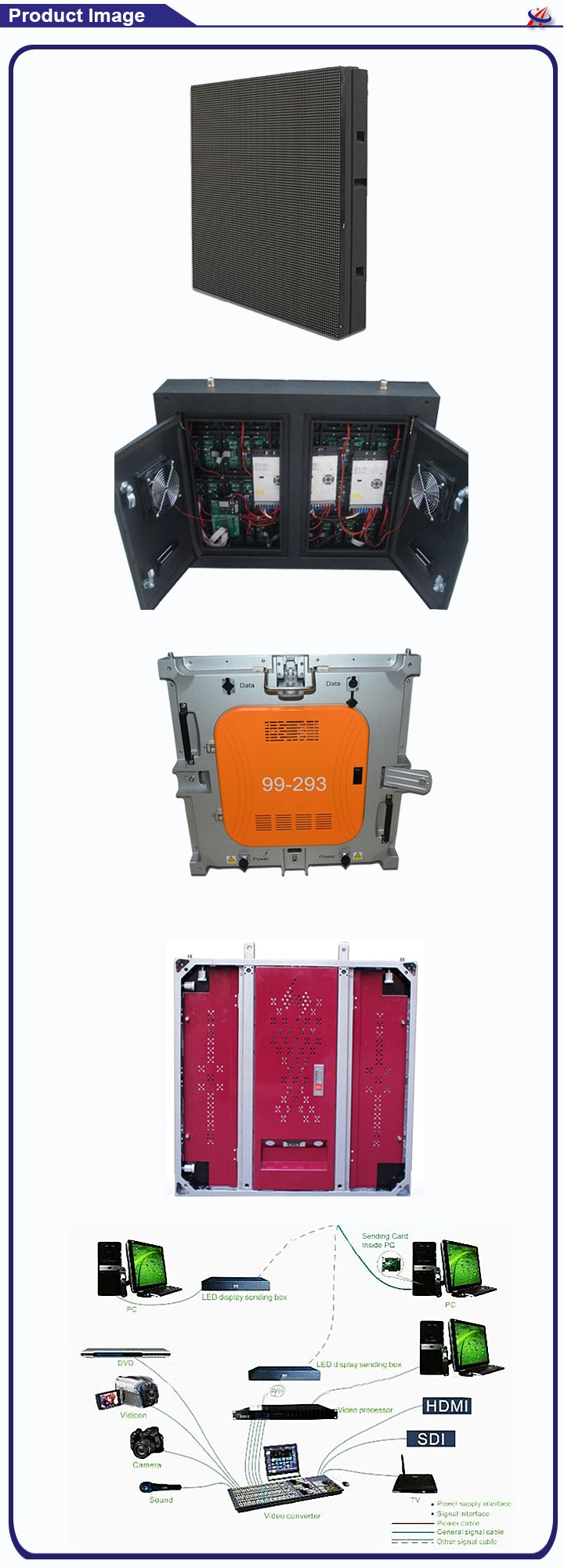 Waterproof steel led cabinet , outdoor rental led cabinet ,P10 led display cabinet