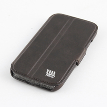 5 Inch Black Leather Free Mobile Phone Case For Samsung Galaxy S4 Cover