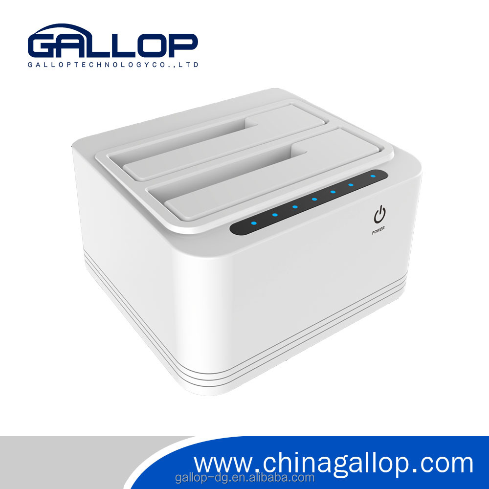Clone Function USB3.0 to SATA dual bay HDD docking Station