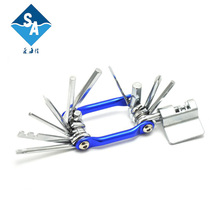 Factory supply multifunction professional practical 13 in 1 mountain bike repair tool
