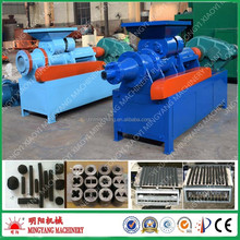 Large capacity no any binder wood sawdust hexagon bbq charcoal briquette extruder machine