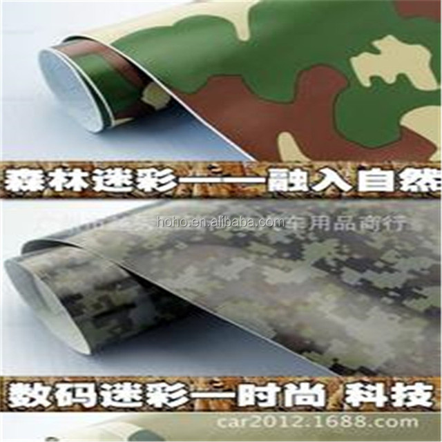 Irregular style camouflage car wrapping foil film, hydrographic film